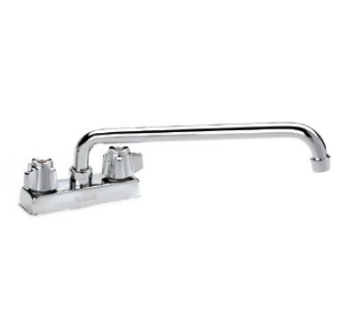 "Krowne 11-412L Deck Mount Faucet - 12"" Swing Spout, 4"" Centers, Low Le"