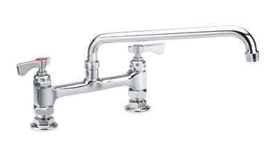 Krowne 15-806 Deck Mount Royal Series Faucet 6-in Long 8-in Center Mount Kit Restaurant Supply