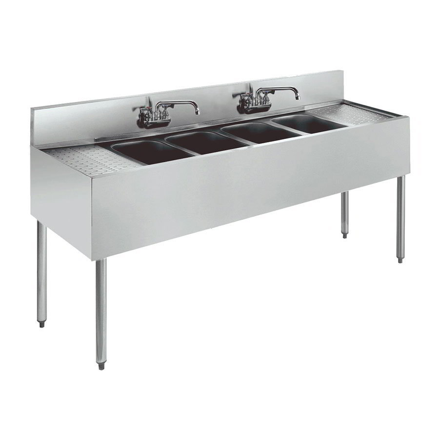 Krowne 21-64C Under Bar Sink - (4) 10x14x9.75""