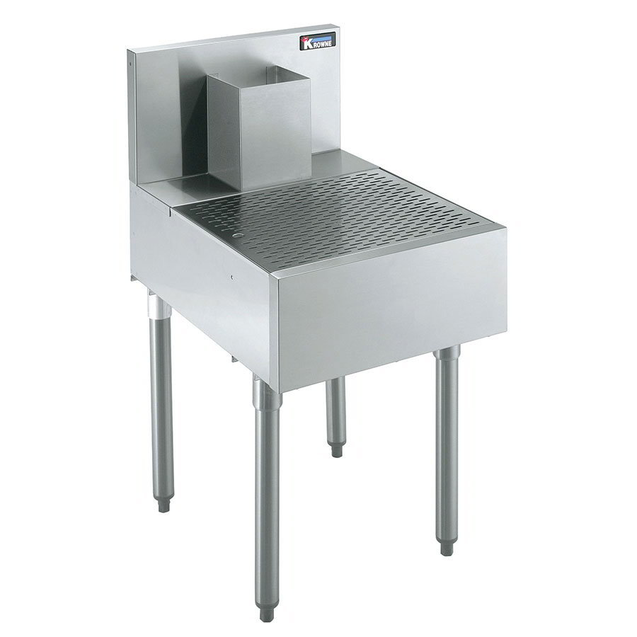 Krowne KR18-BD18 Under Bar Beer Drainer - Lift-Out Perforated Top, 18x24