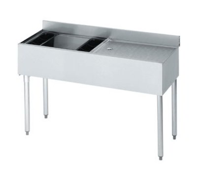 "Krowne 18-D48L-7 Left Ice Bin/Right Drainboard Unit - 80-lb Capacity, 48x18.5"", Cold Plate"