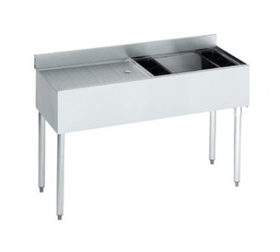 "Krowne 18-D48R-7 Right Ice Bin/Left Drainboard Unit - 80-lb Capacity, 48x18.5"","