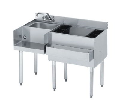 Krowne 21-W66R Right Blender/Cocktail/Left Drainboard Unit - 80-lb Ice Bin, 66x.25