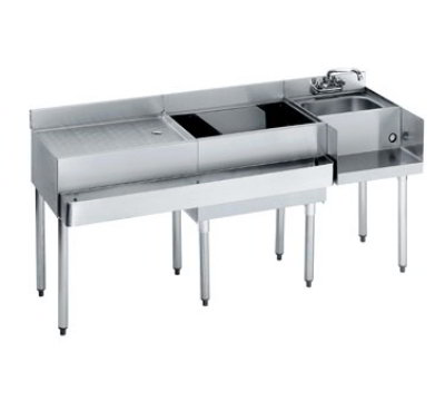 Krowne 18-W66R Right Blender/Cocktail/Left Drainboard Unit - 80-lb Ice Bin, 66x.22.5