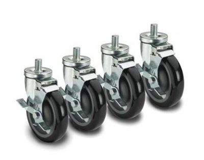 Krowne 28-141S Universal Threaded Stem Caster Set, 0.5 x 13-in