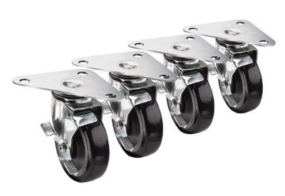 Krowne 28-161S Large Universal Triangle Plate Caster Set w/ 5-in Wheels