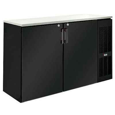 "Krowne BS60R 60"" Back Bar Storage Cabinet - Holds (12) Cases Bottles, Right Mount, Black"