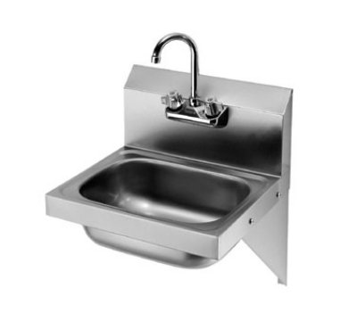 "Krowne HS-10 Wall Mount Hand Sink - 14x10x6"" Bowl, Gooseneck Faucet, Low Lead"