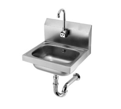 "Krowne HS-12 Wall Mount Hand Sink - 14x10x6"" Bowl, Electronic Gooseneck Faucet, Low Lead"