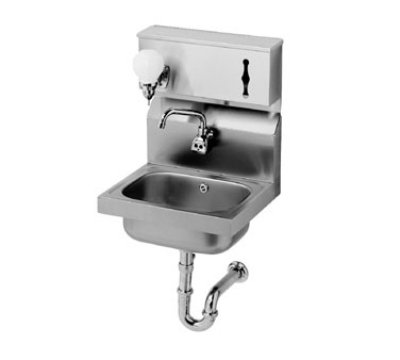 "Krowne HS-13 Hand Sink - 10.37x14x9"" Bowl, Splash Mount, 12.25x18"", Stainless"