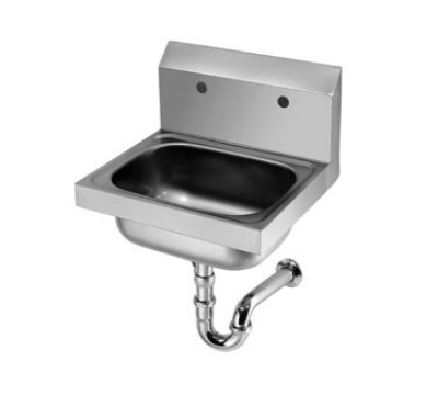 "Krowne HS-20 Wall Mount Hand Sink - 14x10x6"" Bowl, P-Trap, 16x15"