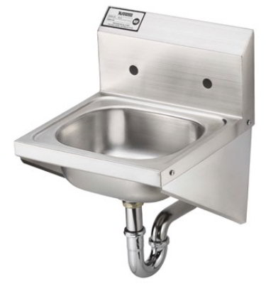Krowne HS-27 Hand Sink w/ 8-in Center Faucet Holes & Stainless Side Supports