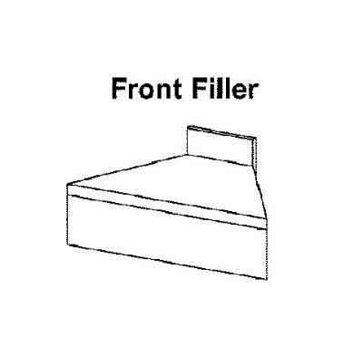 "Krowne 18-FC 18.5"" Flat Top Front Corner Angle - 90-Degree, 4"" Back Splash"