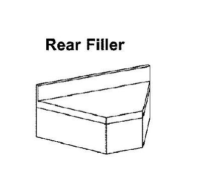 "Krowne 18-RC 18.5"" Flat Top Rear Corner Angle - 90-Degree, 4"" Back Splash"