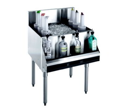 "Krowne KR18-24DP-10 Ice Bin - 100-lb Capacity, Bottle Racks, 7"" Back Splash, 24x19"", Cold Plate"