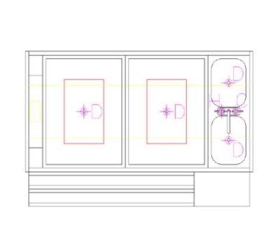 Krowne KRPT-66LP-8 66-in Pass-Thru Workstation L Ice Bin Cold Plate Blender Shelf Sink Restaurant Supply