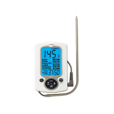 Taylor 1471N Digital Oven Thermometer w/ Built-In Timer, 32 to 392 F Degrees