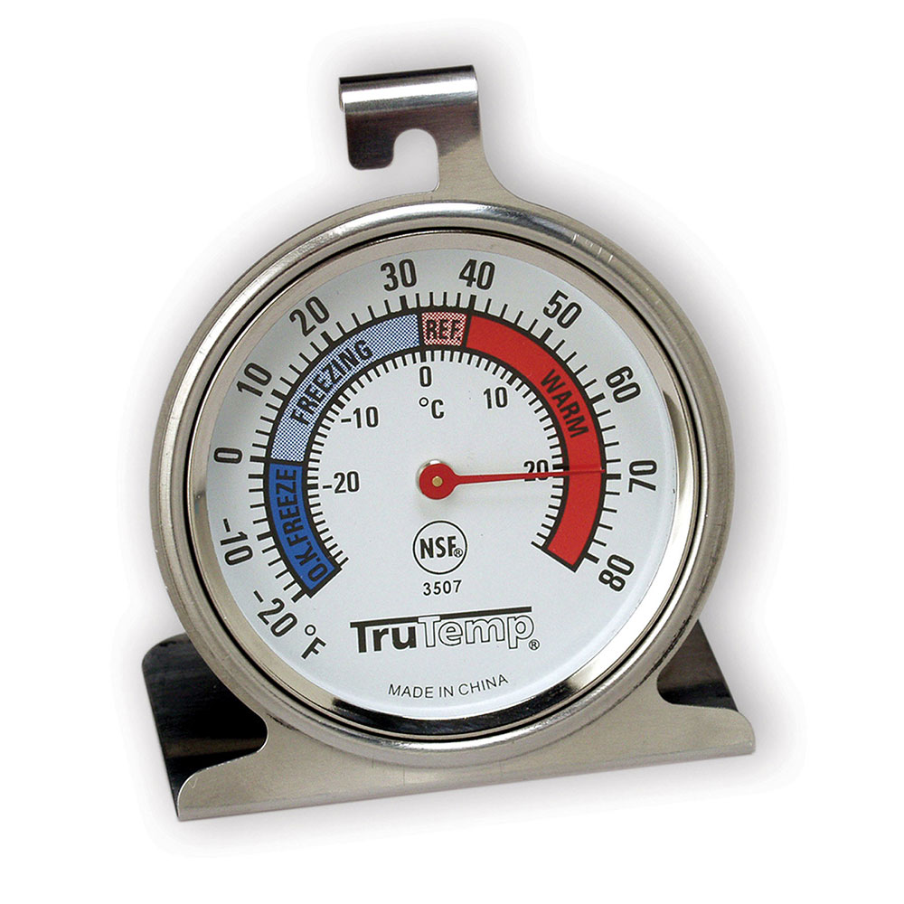 """Taylor 3507 TruTemp Refrigerator Freezer Thermometer w/ 2.25"""" Dial, -20 to 80F"""