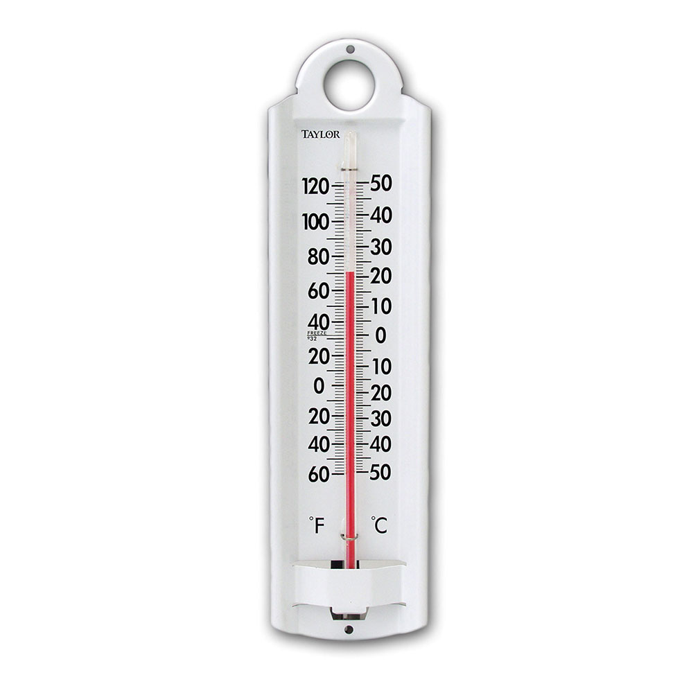 Taylor 5135N Wall Thermometer w/ -60 to 120 F Degree Range, Weather-Resistant