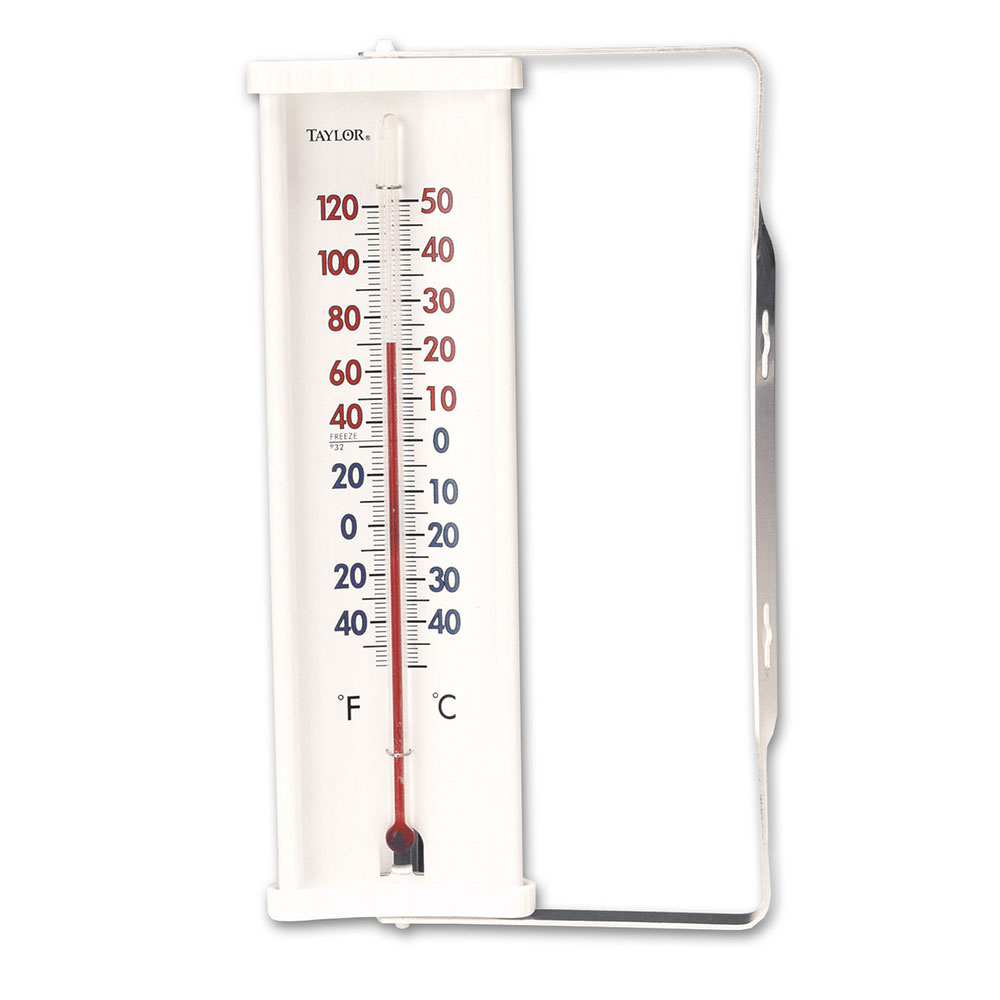 Taylor 5316N Tube-Type Window Thermometer w/ -60 to 120 F Degree Capacity