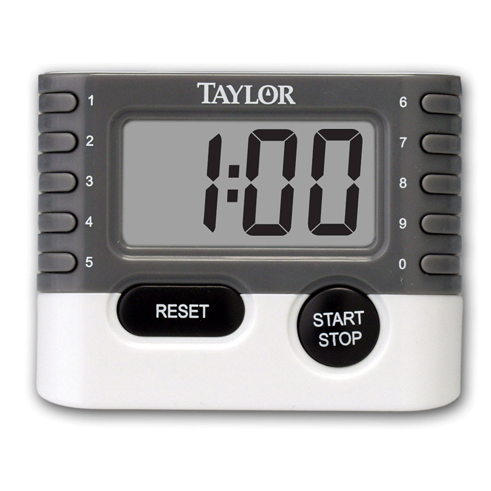 Taylor 5829 10-Key Digital Timer w/ Minute & Second Timing, .75-in LCD Display