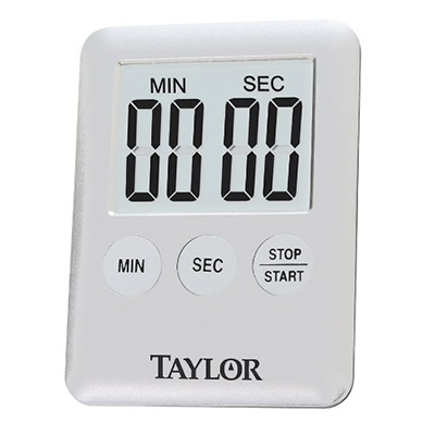 Taylor 584221 Mini Digital Timer - 99-min 59-sec Countdown, Magnet, LED Readout