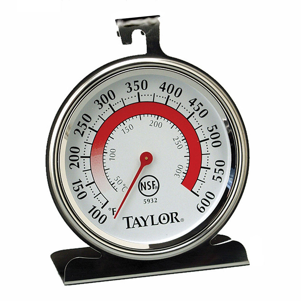 Taylor 5932 Oven Thermometer w/ 3.25-in Dial Face, 200 to 500 F Degrees