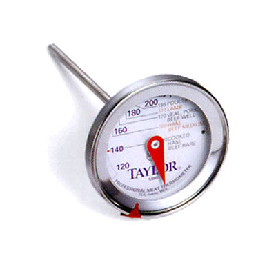 Taylor 5990N Meat Thermometer, 2.75-in Dial w/ Prep Scale, 120 to 250 F Degrees