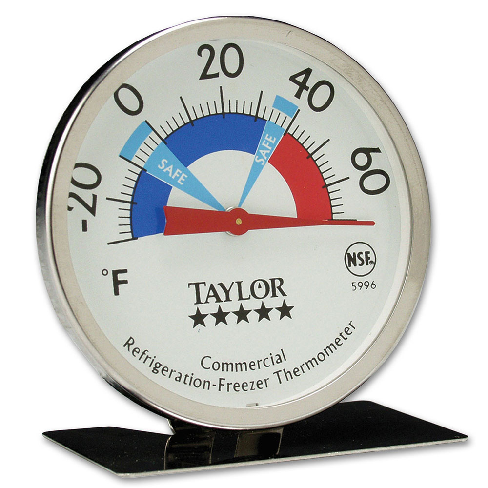 Taylor 5996N Refrigerator Freezer Dial Thermometer, -30 to 70 Degree Capacity