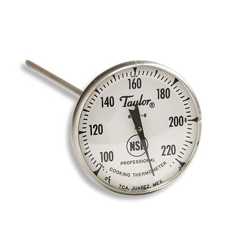 Taylor 6081J8 Roast Meat Thermometer w/ 2-in Dial Display, 100 to 200 F Degrees