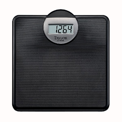 Taylor 701440132 Lithium Scale w/ 330-lb Capacity, 1-in LCD Readout