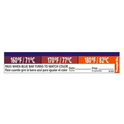 Taylor 8769 Adhesive Dishwasher Temperature Labels, 160, 170 &a