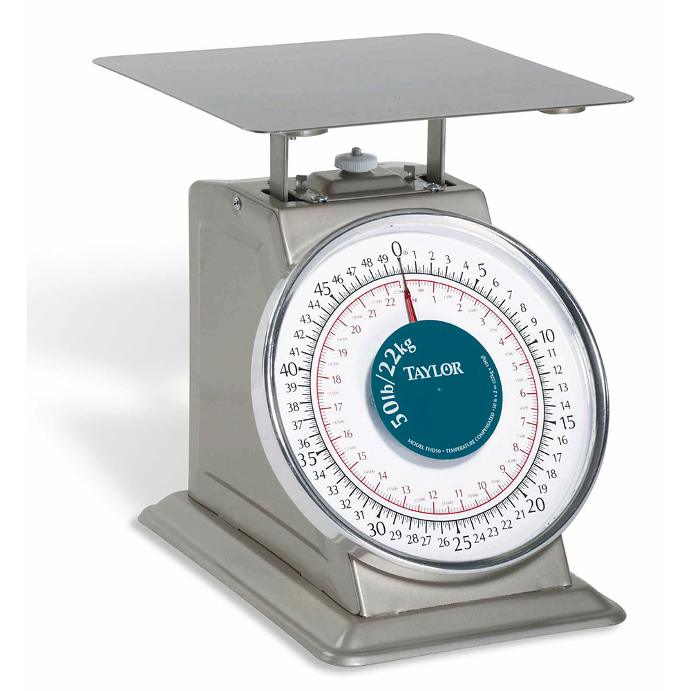 Taylor THD50 50-lb Portion Control Scale w/ 9x 9-in Pl
