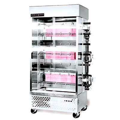 American Range ACB-7 LP Rotisserie Oven w/ 7-Spits, Manual Control, All Stainless, 105000-BTU, LP