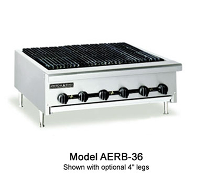 American Range AERB12LP 12-in Radiant Charbroiler w/ Reversible Cast Iron Grates, LP