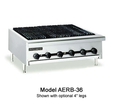 American Range AERB60LP 60-in Radiant Charbroiler w/ Reversible Cast Iron Grates, Counter, LP