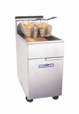 American Range AF75 NG 65-75 lb Capacity Fryer, Floor Model, Thermostatic Controls, NG