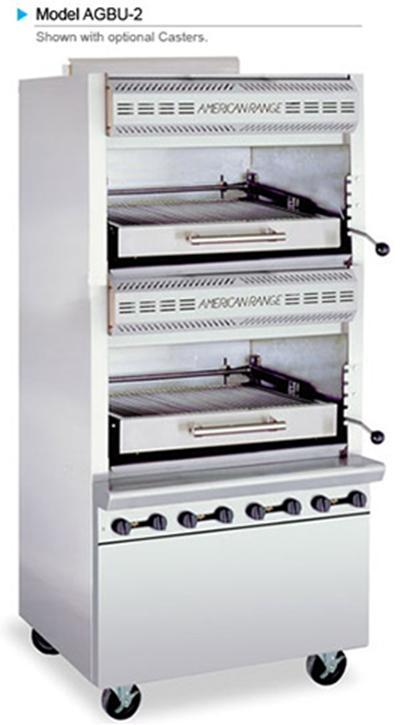 American Range AGBU-2 NG Infrared Broiler w/ 2-Decks & Stai