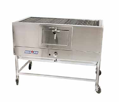American Range AMSQ-30 NG 30-in Mesquite Broiler w/ Cast Iron Removable Grates, 20000-BTU, NG
