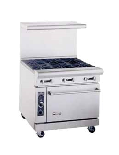 "American Range AR12G4B 36"" 4-Burner Gas Range with Griddle, LP"