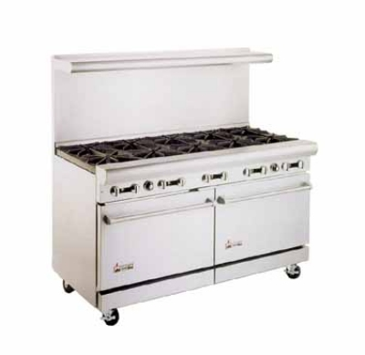 American Range AR24G6B NG 60 in Range, 24 in Griddle, Manual Control, 6 Burners, 2 Ovens, NG