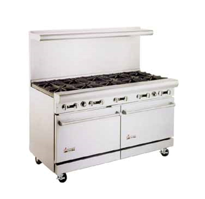 "American Range AR24G6B 60"" 6-Burner Gas Range with Griddle, NG"