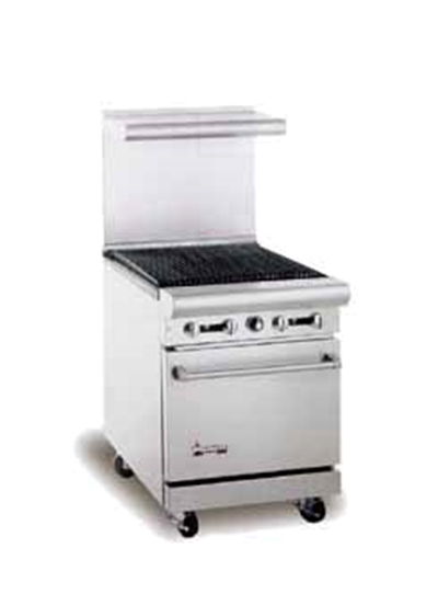 "American Range AR-2RB 24"" Gas Range with Charbroiler, LP"
