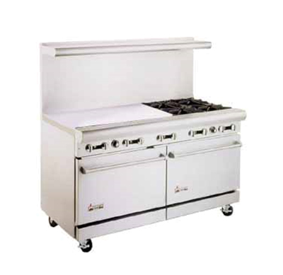 "American Range AR36G4B 60"" 4-Burner Gas Range with Griddle, LP"