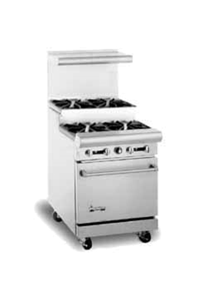 "American Range AR-4-SU 24"" 4-Burner Gas Range, Step-up, LP"