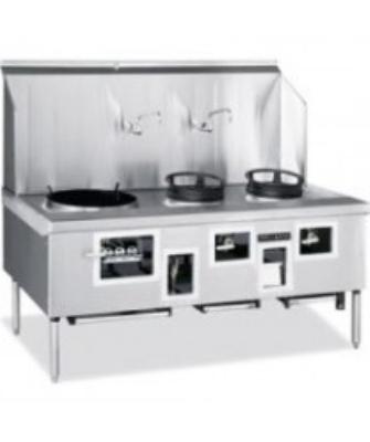 American Range ARCR2 NG 2-Bowl Wok Range w/ Built-in Drain System & Water Cooled Top, NG