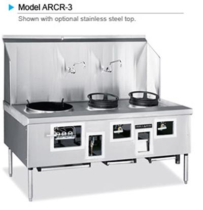 American Range ARCR-7 LP Wok Range w/ 7-Bowls, Stainless Exterior, 770000-BTU, LP