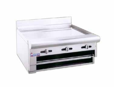 American Range ARGB36 LP Raised Griddle Broiler w/ .75-in Thick Polished Griddle Plate, LP
