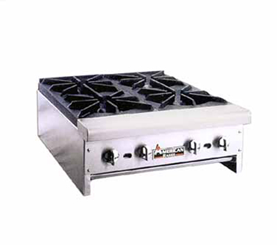 American Range ARHP48-4 LP 48-in Counter Hotplate w/ 4-Burners, Manual, 128000-BTU, LP
