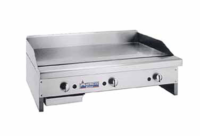 American Range ARMG-148 LP 48-in Counter Griddle w/ Smooth Steel Plate, Manual, 120000-BTU, LP